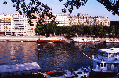 Morning on the river Seine, Paris, France.